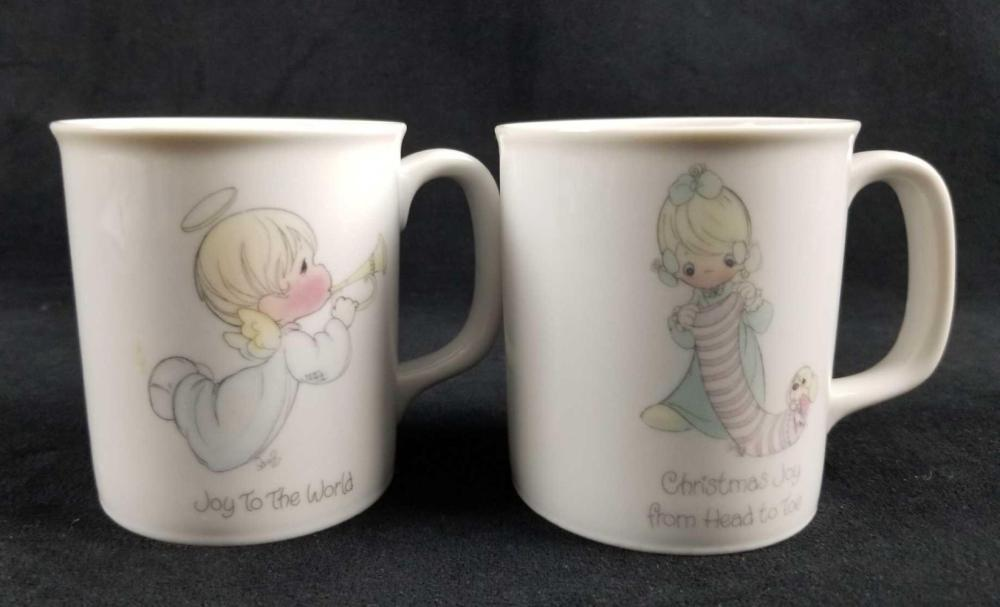 Set Of Two Precious Moments Mugs 1985