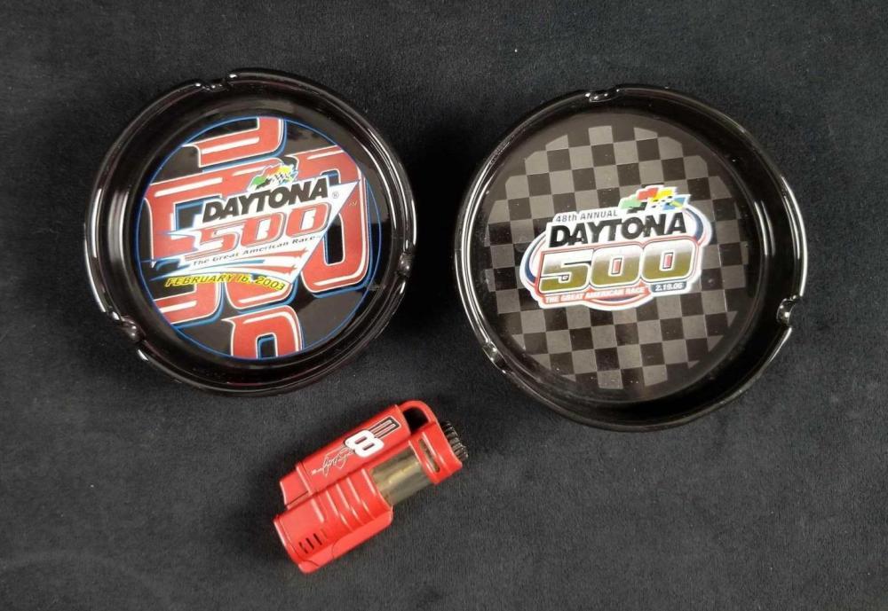 NASCAR Daytona 500 Ashtrays and Dale JR Lightter
