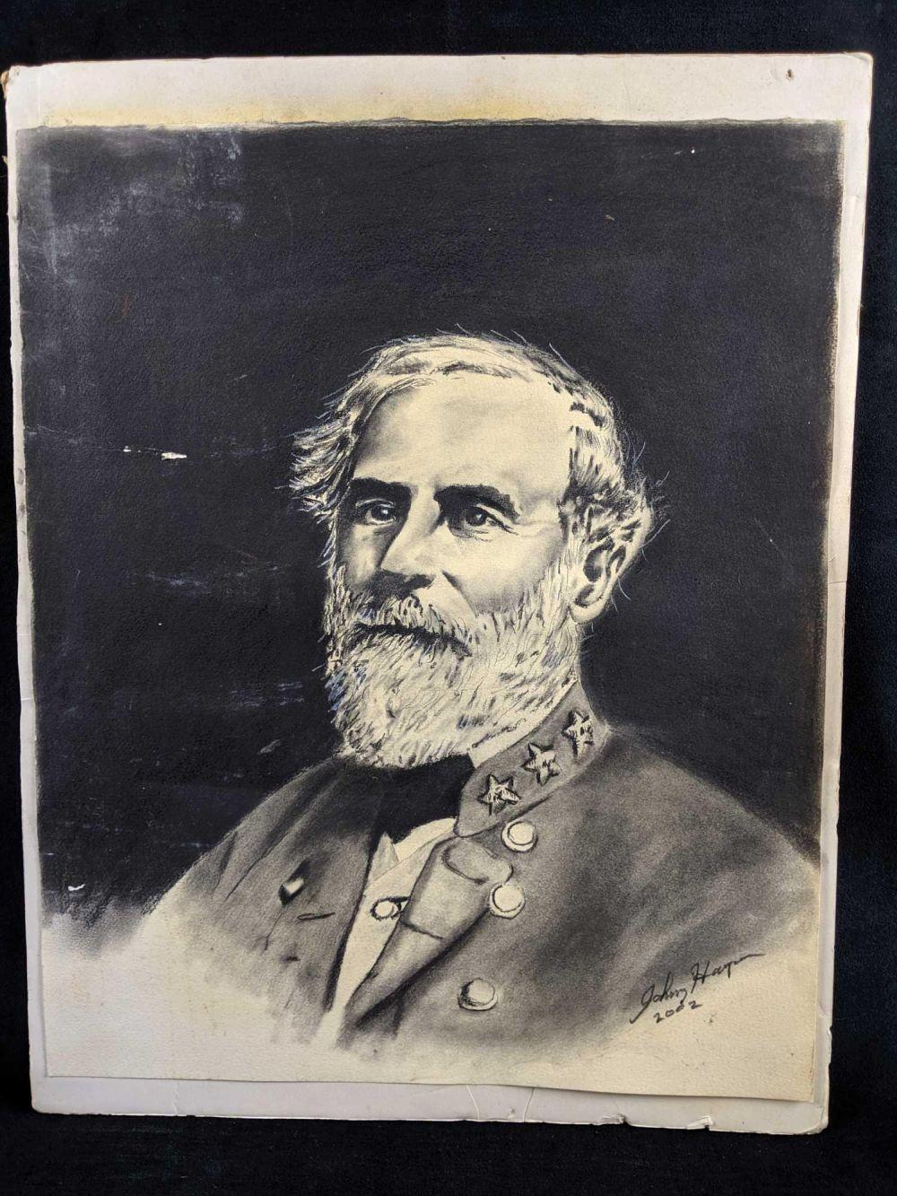 Charcoal Master Copy portrait Of General Robert E Lee
