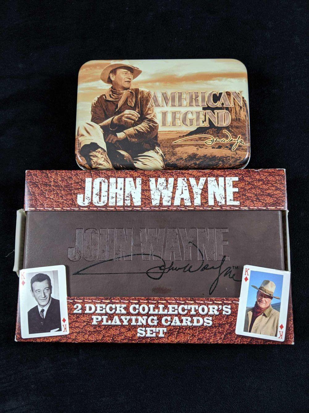 John Wayne Memorabilia Playing Cards In Case Lot of 2