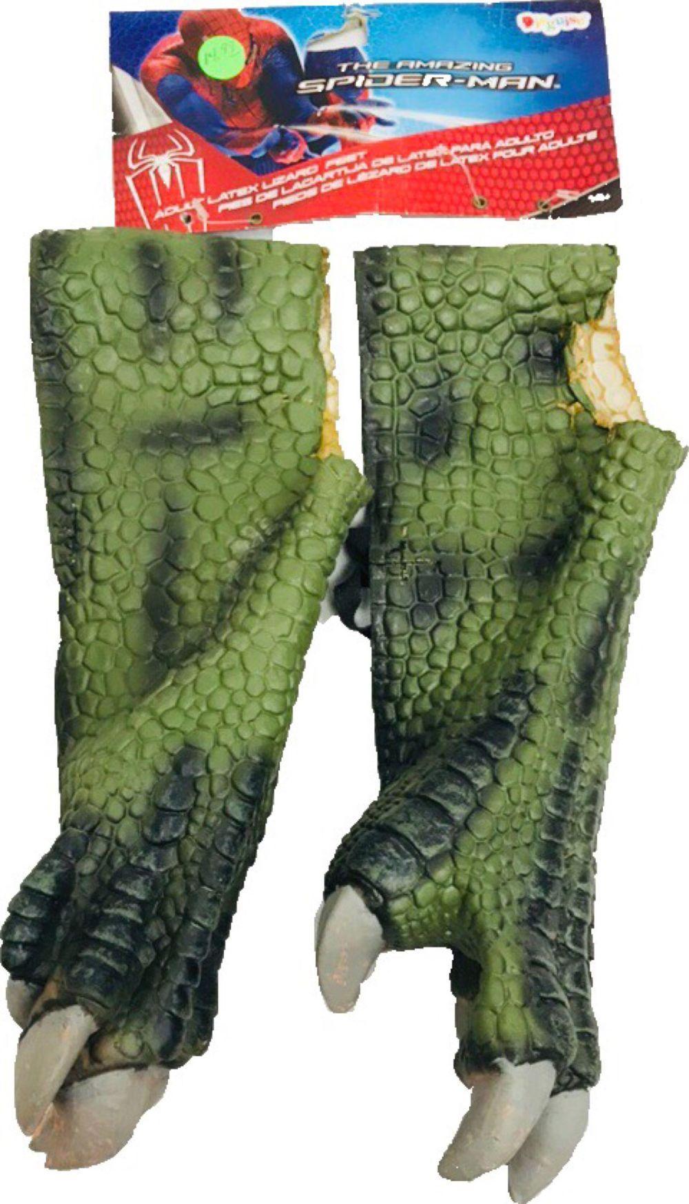 NOS - Spider - Man - Adult Latex Lizard Feet - Halloween Costume Accessory
