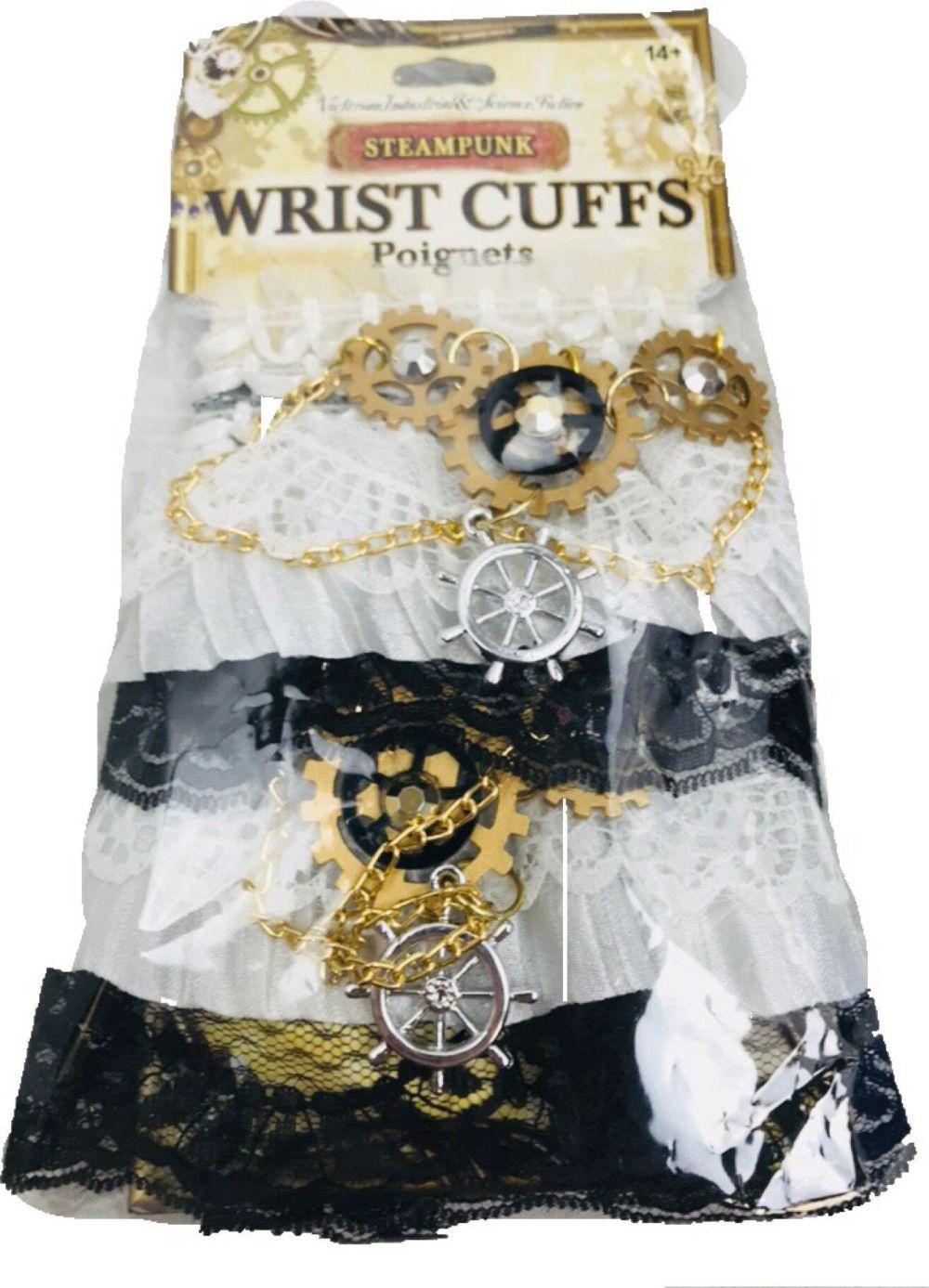 NOS Wrist Cuffs Poignets Halloween Steampunk