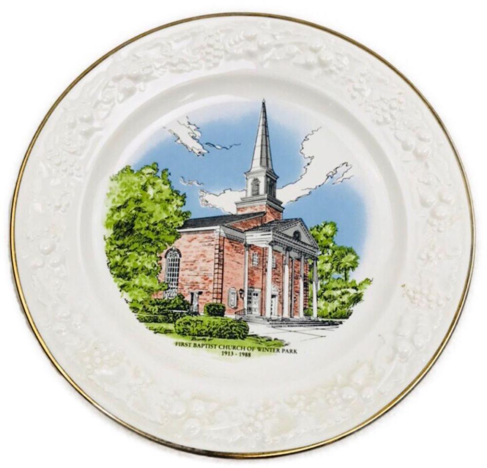 1988 First Baptist Church Winter Park FL Commemorative Plate