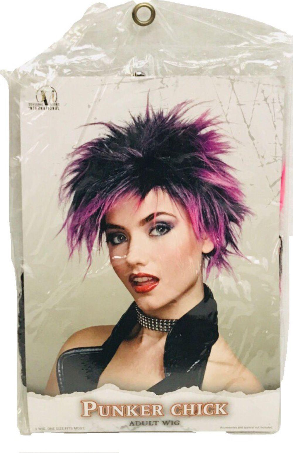 NOS - Halloween Wig - PUNKER CHICK - Adult Size