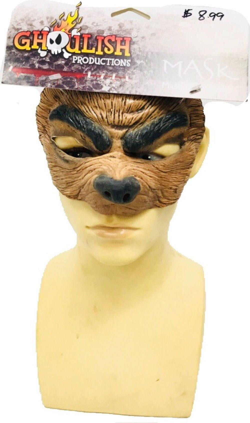 NOS - Ghoulish Productions - Wolf Mask - Halloween Accessory