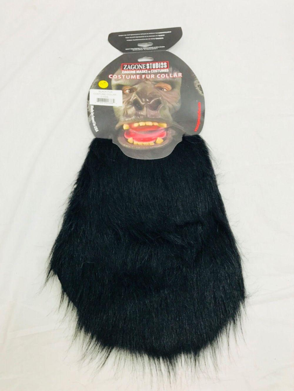 NOS - Halloween Costume Accessory - Fur Collar for Gorilla - Black