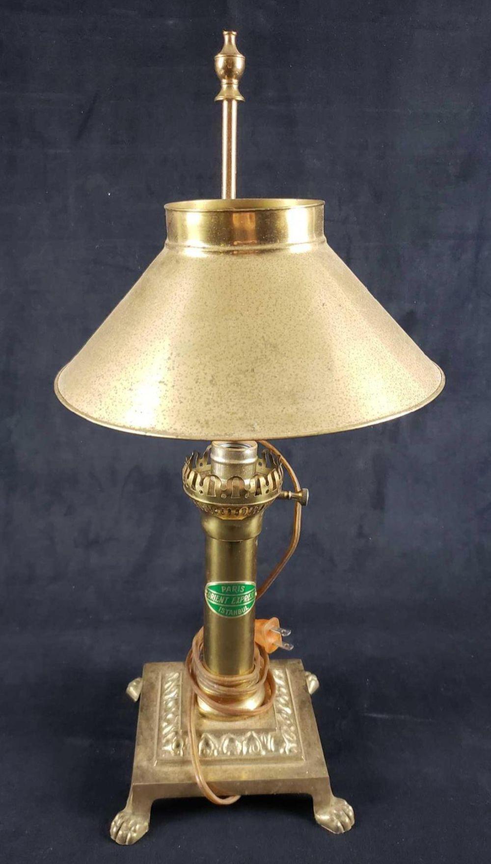 Paris Orient Express Istanbul Brass Lamp