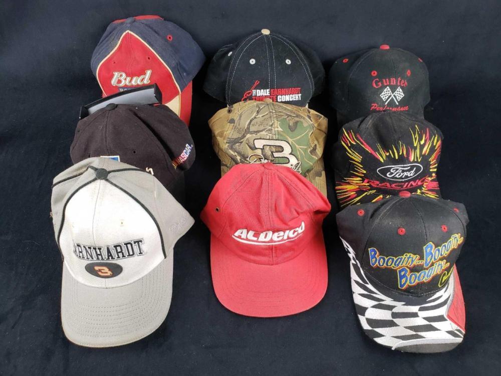 Lot of 9 Baseball Caps