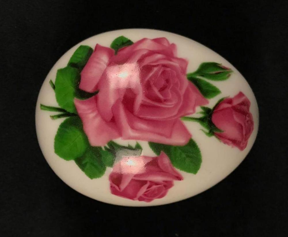The Danbury Mint Porcelain Egg Trinket Box