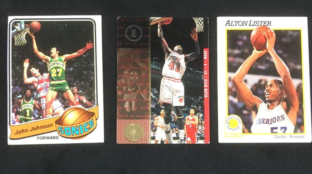 Lot of 3 Vintage NBA Sports Cards Circa 1970 to 1990