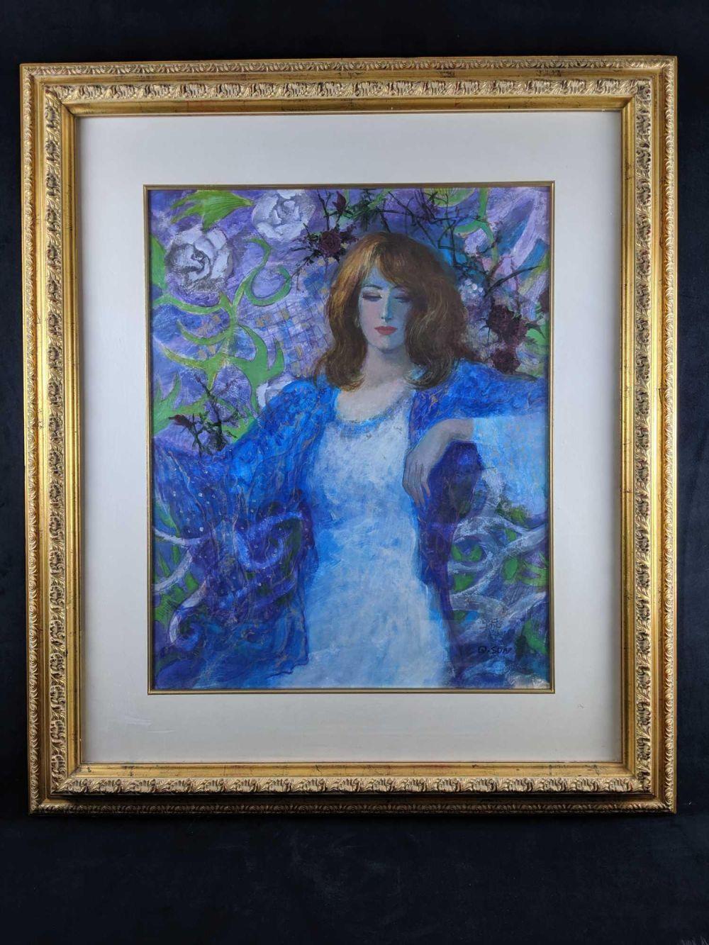 Original Acrylic Quan Sun Painting 24 x 30