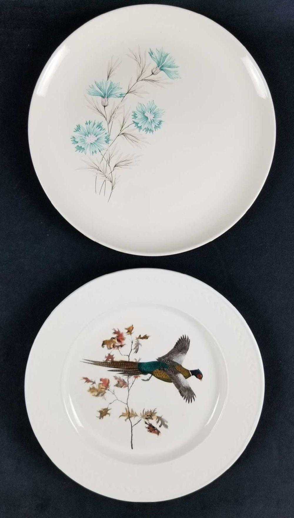 Lot of 2 American Made Decorative Plates