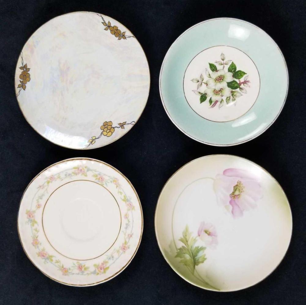 Mixed Lot of 4 Mini Porcelain Plates