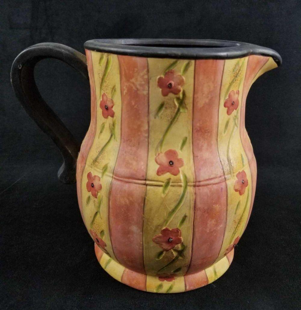 Romance N Blooms Large Ceramic Creamer by Bobs Pottery