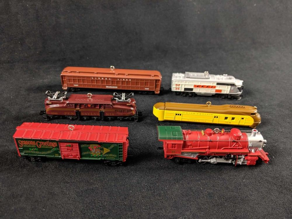 Lionel Trains Hallmark Christmas Collectible Ornaments Lot of 6