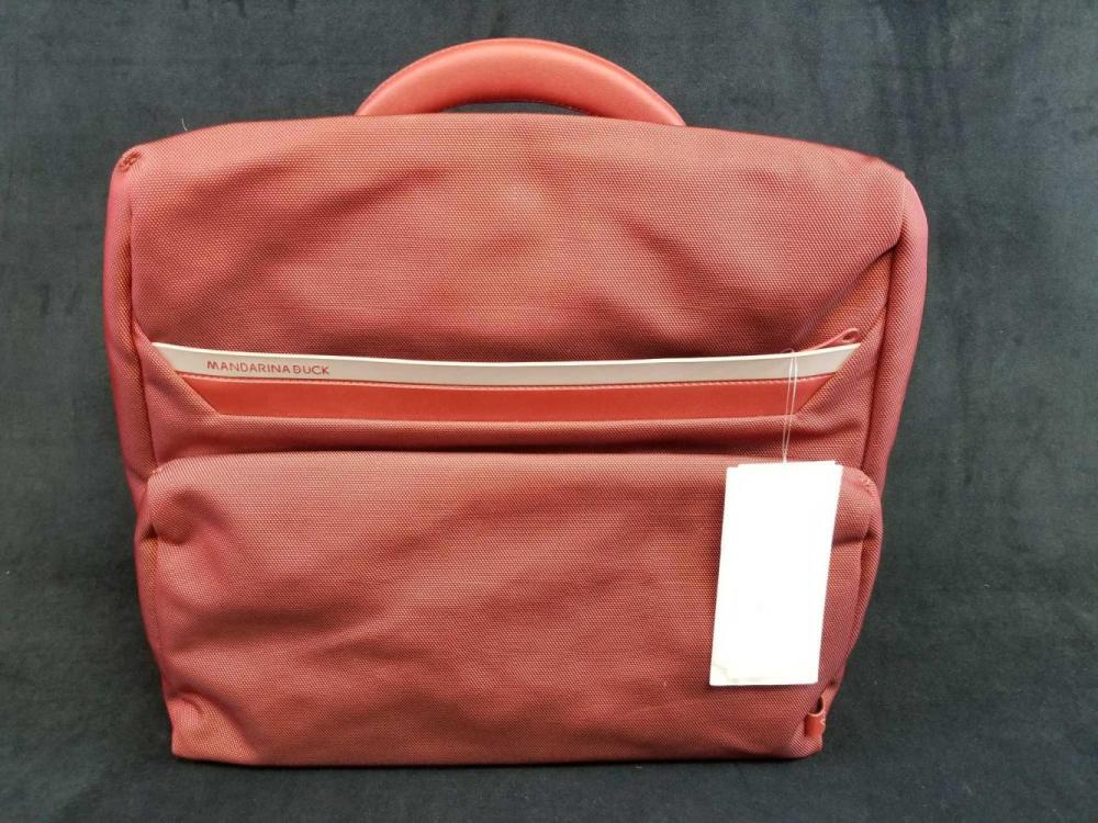 New Mandarina Duck Cedar Briefcase with Laptop Sleeve and Shoulder Straps