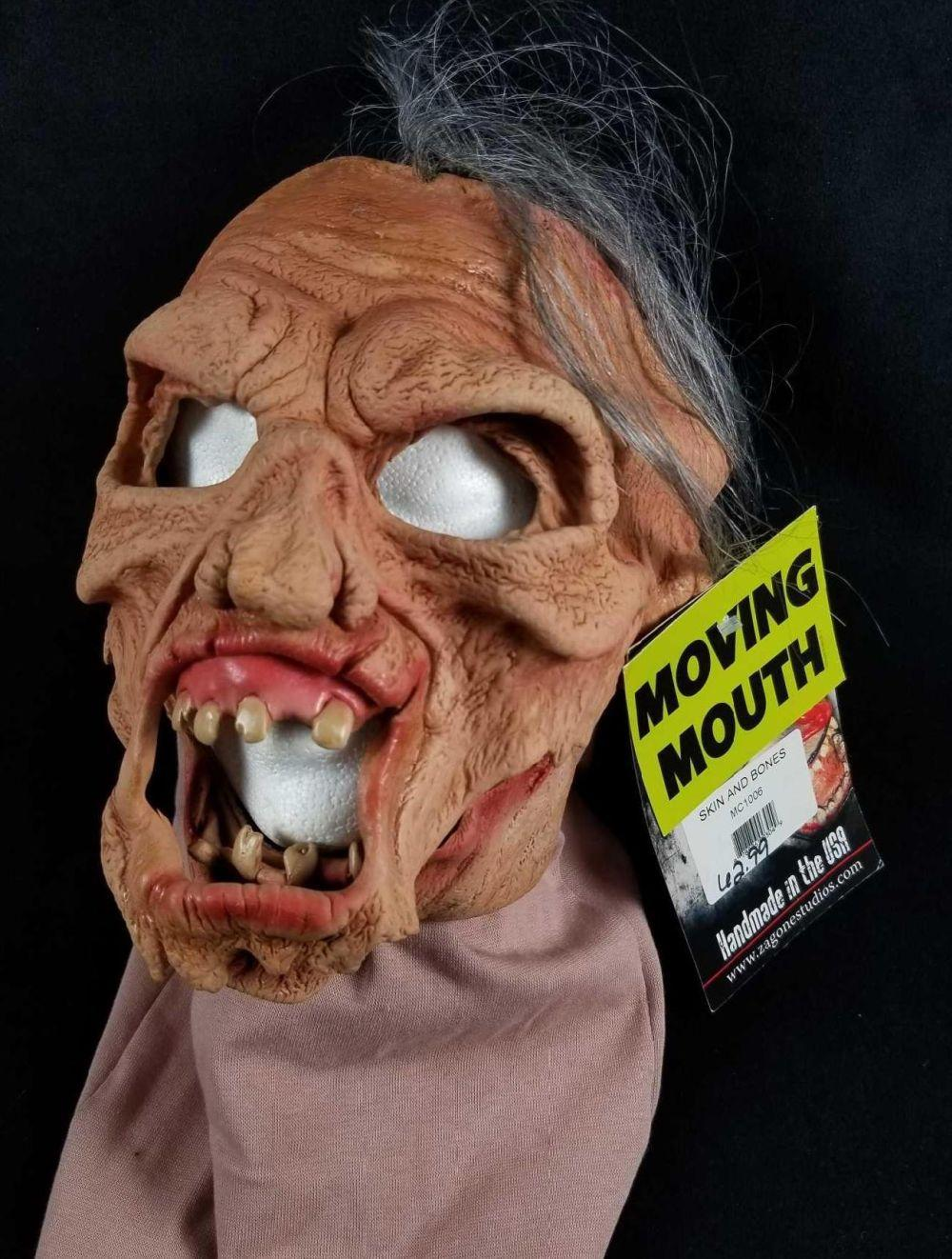 Realistic Zombie Halloween Mask with Moving Mouth