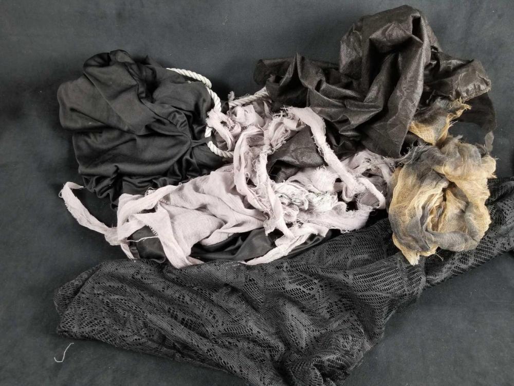 Scraps of Halloween Fabric