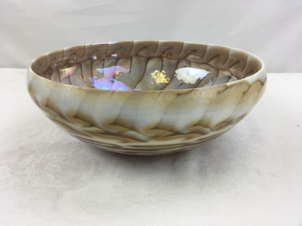 Nautical Murano Glass Serving Bowl