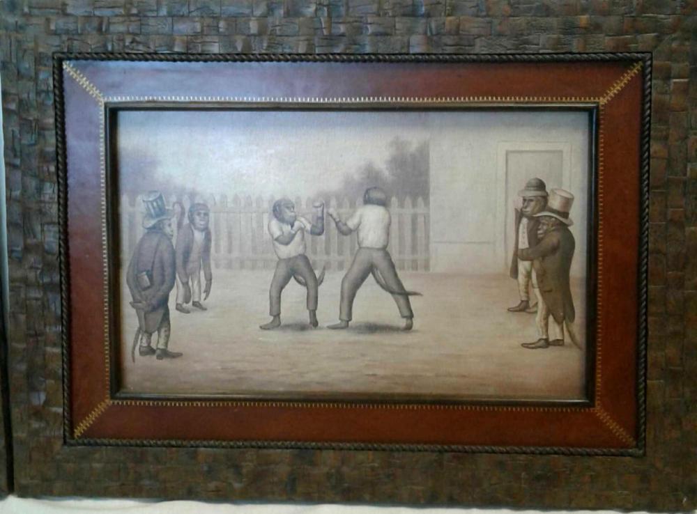 Vintage Maitland-Smith Art work Wall Decor