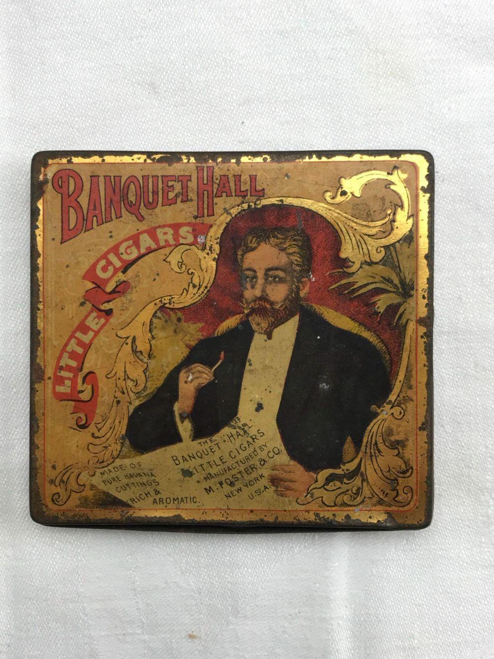 Banquet Hall Little Cigars Antique Tin