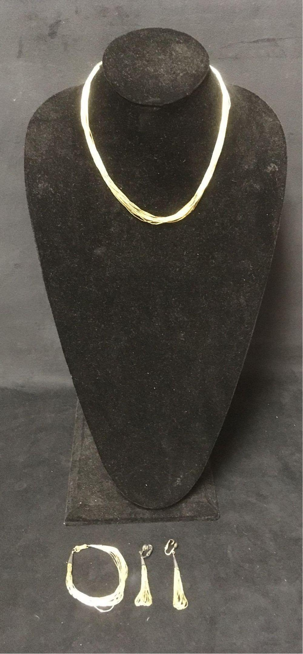 Vintage Ross Simons Multi Strand Sterling Jewelry Set