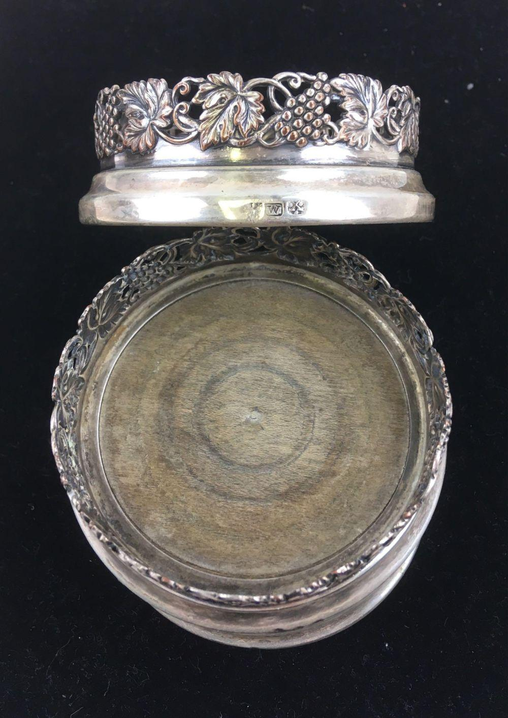 Antique British Sterling Silver Coasters