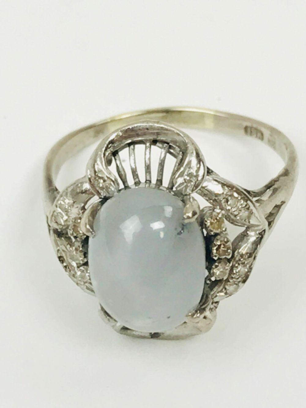 18K Diamond and Star Sapphire Ring Appraised Value $5200