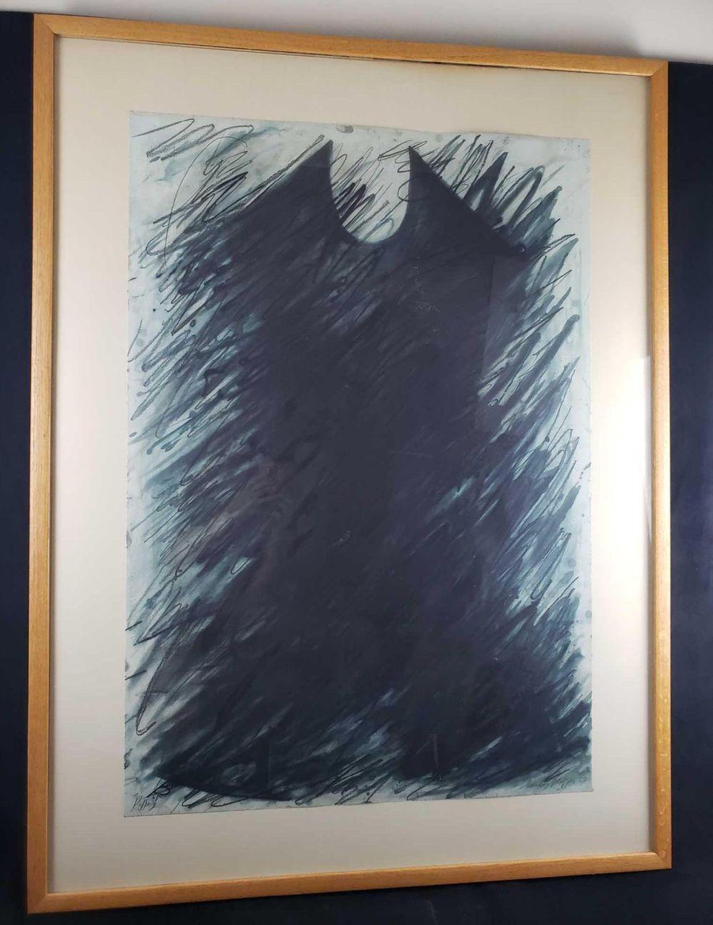 Beverly Pepper 1989 Wedge Framed Print Signed