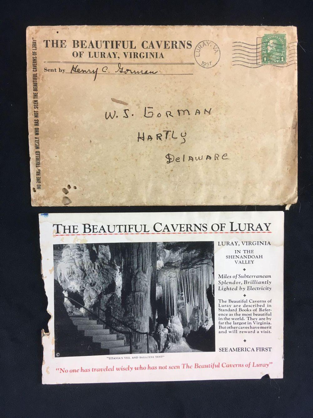Vintage Caverns Of Luray Virginia Brochure