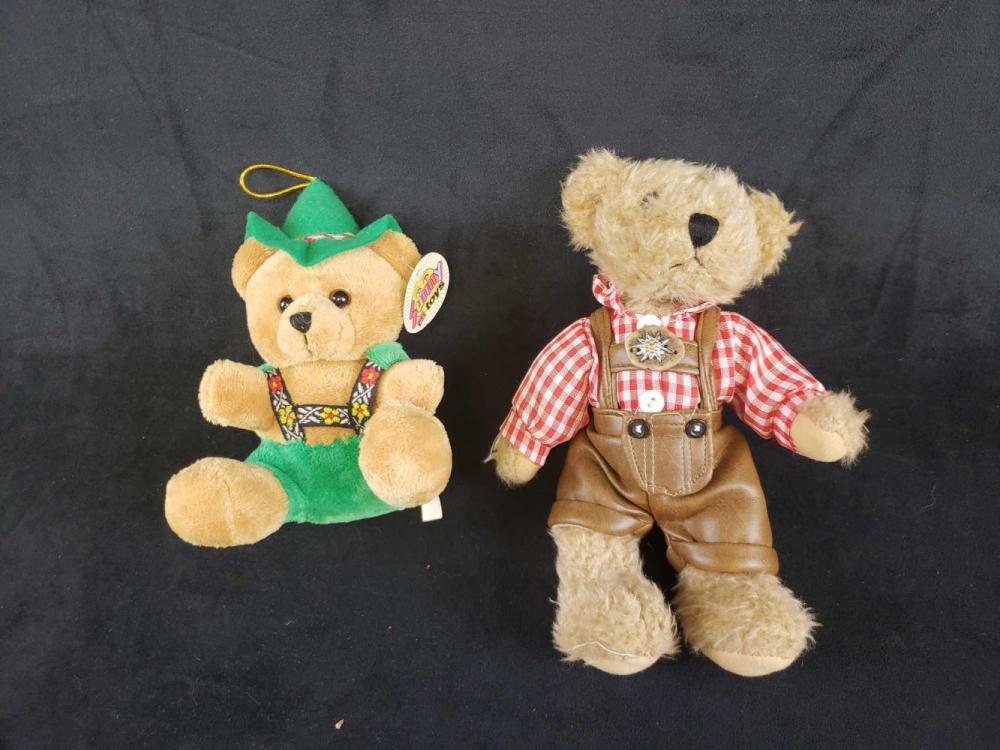 Set of 2 German Stuffed Bears