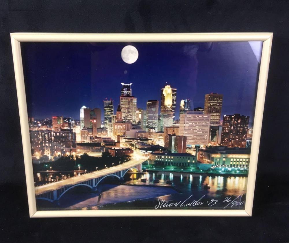 Steven Linder Photograph View of the Mississippi River, Signed and Numbered