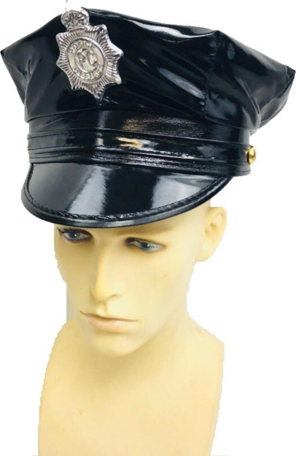 e6b6941863c Women s Vinyl Cop Hat Halloween Costume Accessory for Cosplay - Leg Avenue