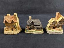 David Winter Cottages Lot Of Three