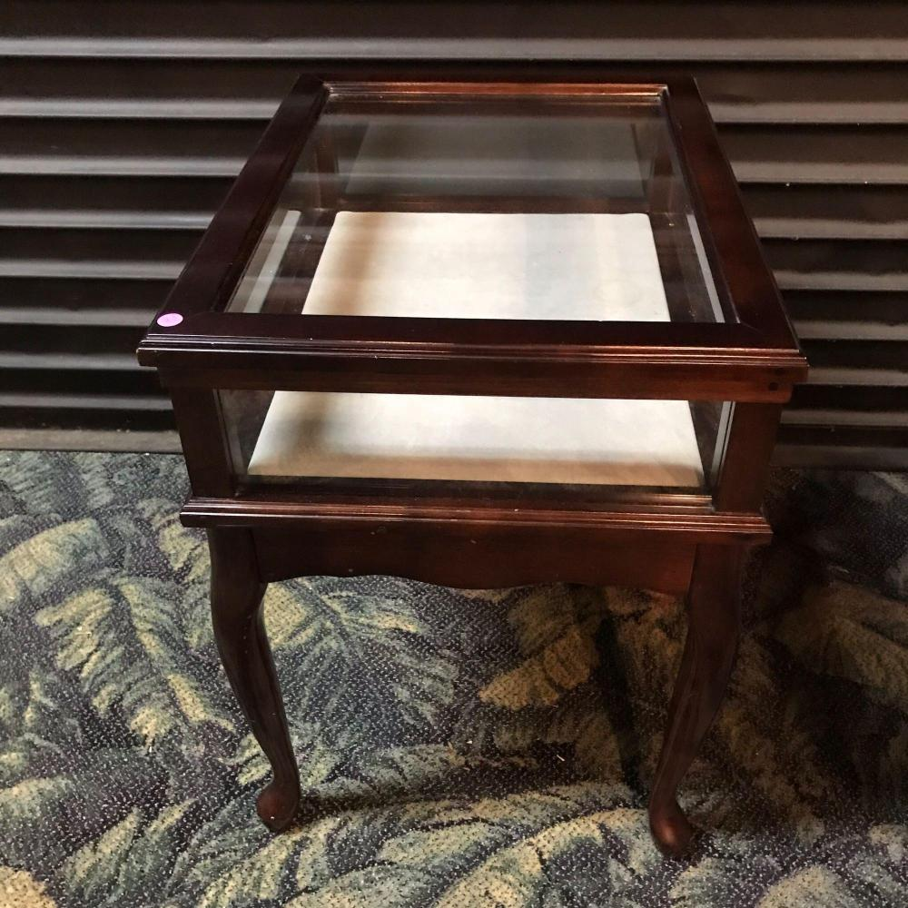 Bombay Co Display Shadow Box Curio End Table