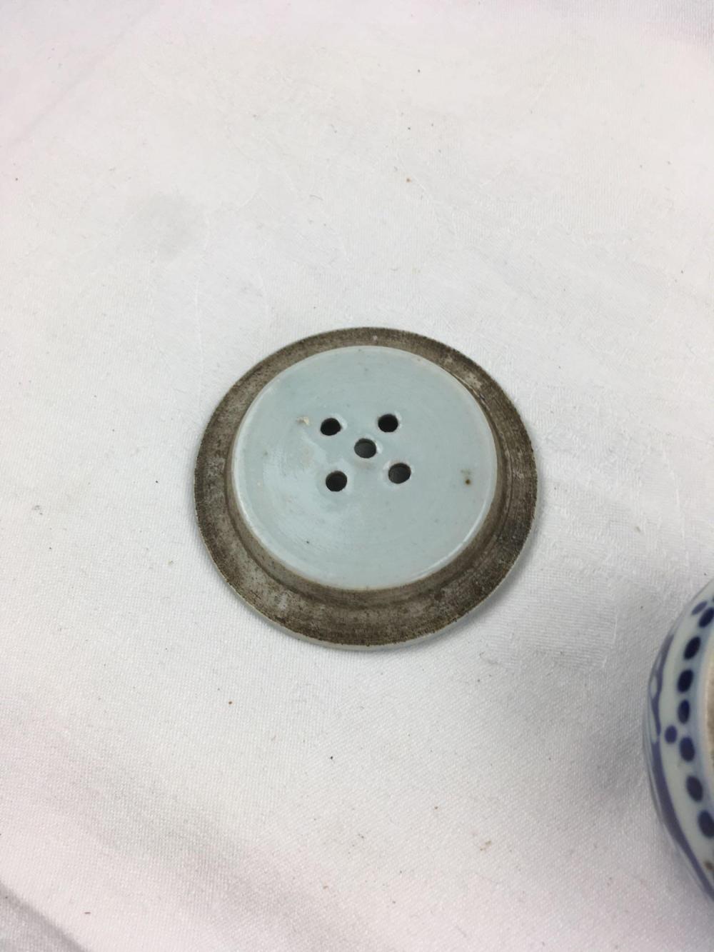 Blue dots incense burner