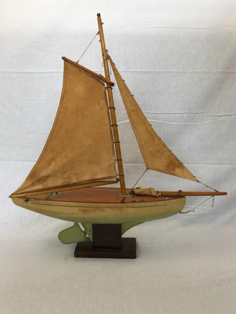 Antique Victorian Pond Yacht Sailboat