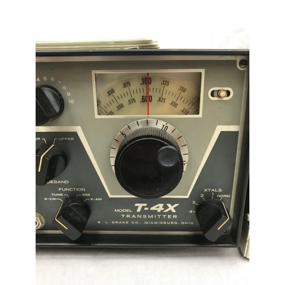 Drake Ham Radio Transmitter T-4X with Power Supply