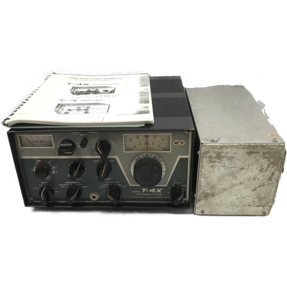 Drake Ham Radio Transmitter T 4x With Power Supply Am Cw Bands