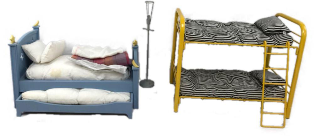 American Girl Doll Bunk Trundle Bed And Floor Lamp