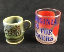 Lot 106: 6 Small Tourist Mug and Glass Collection