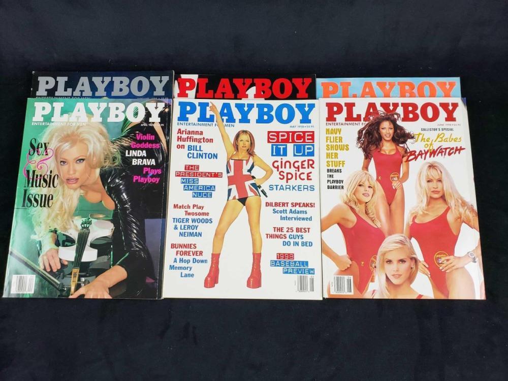 Lot 103: Twelve 1998 Playboy Magazines