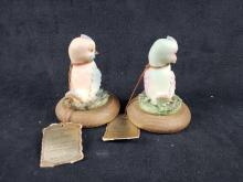 Lot 109: 2 Porcellane Artistiche Capodimonte Bird Figurines