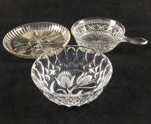 Lot 114: Collection of Three Cut Glass Items