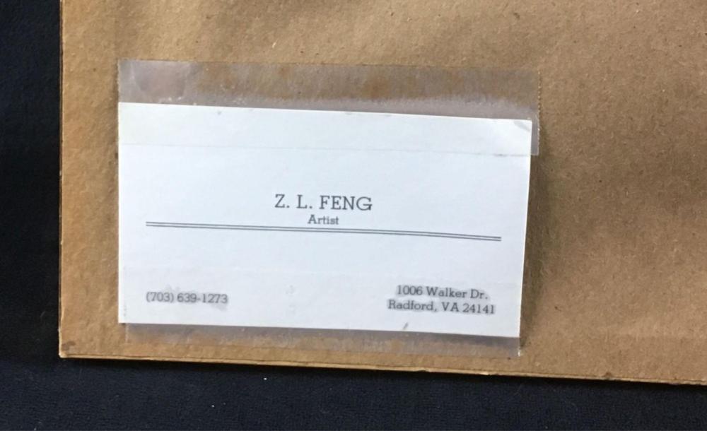Lot 122: Original ZL Feng Landscape Watercolor Painting