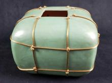 Lot 127: Sang Roberson Mint Colored Pottery Ceramic Vessel Signed