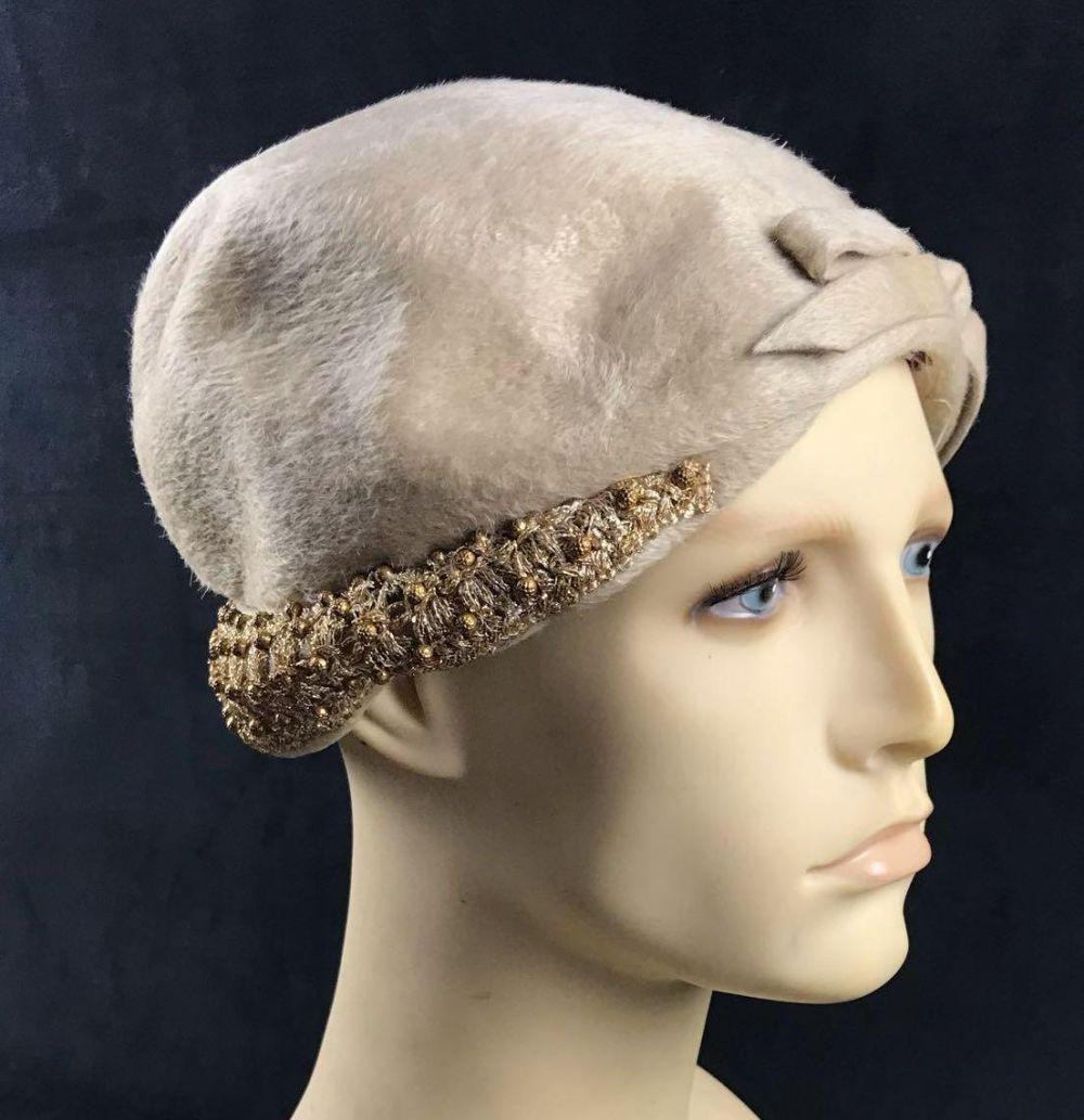Lot 129: Pinehurst Fifth Avenue New York Faux Fur Hat
