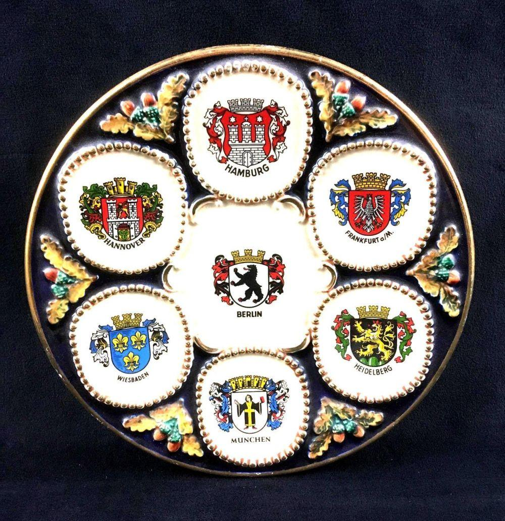 Vintage Collectors Plate Showing German City Coat of Arms