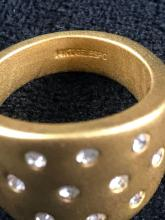 Lot 130: Vintage 14kt Gold Plated Costume Ring