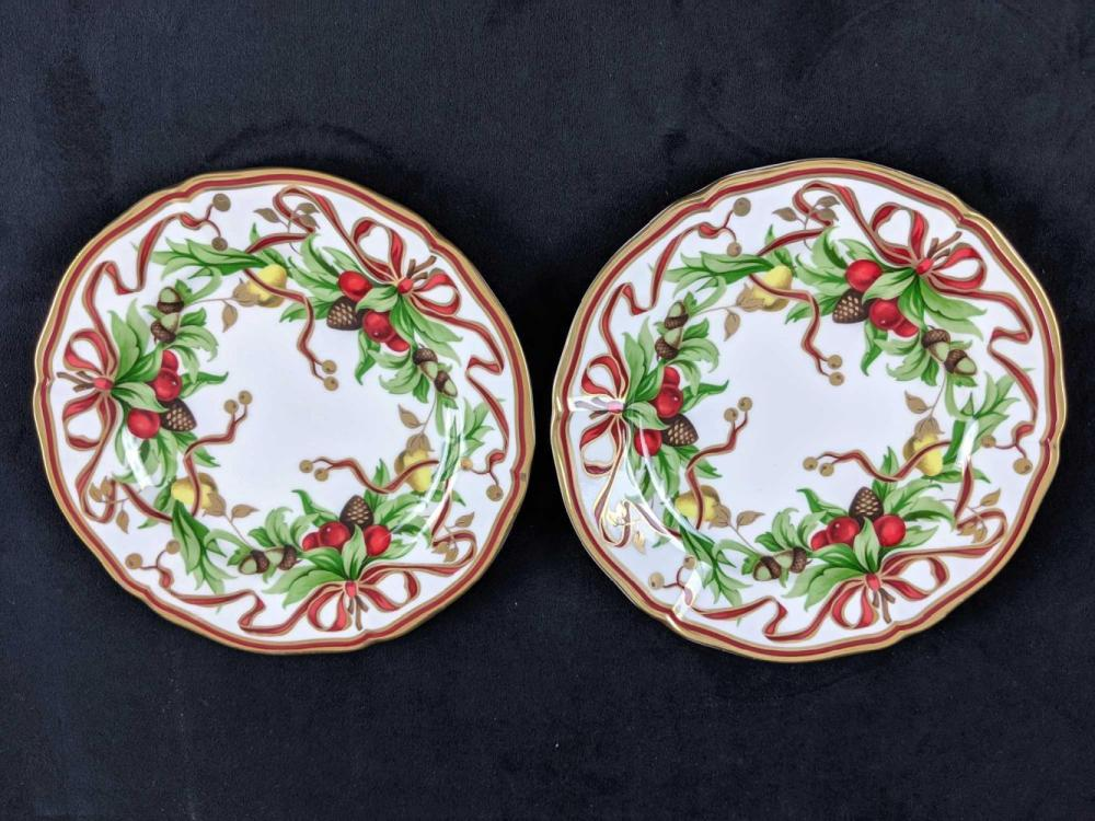Set Of Two Tiffany and Co Garland Plates